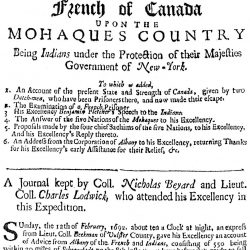 A Narrative of an Attempt Made by the French of Canada upon the Mohaques Country, London, 1693