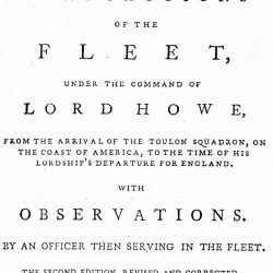 A Narrative of the Operations of the Fleet, London, 1779