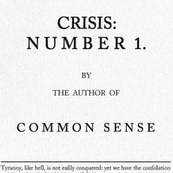 American Crisis, #1, 1776 1