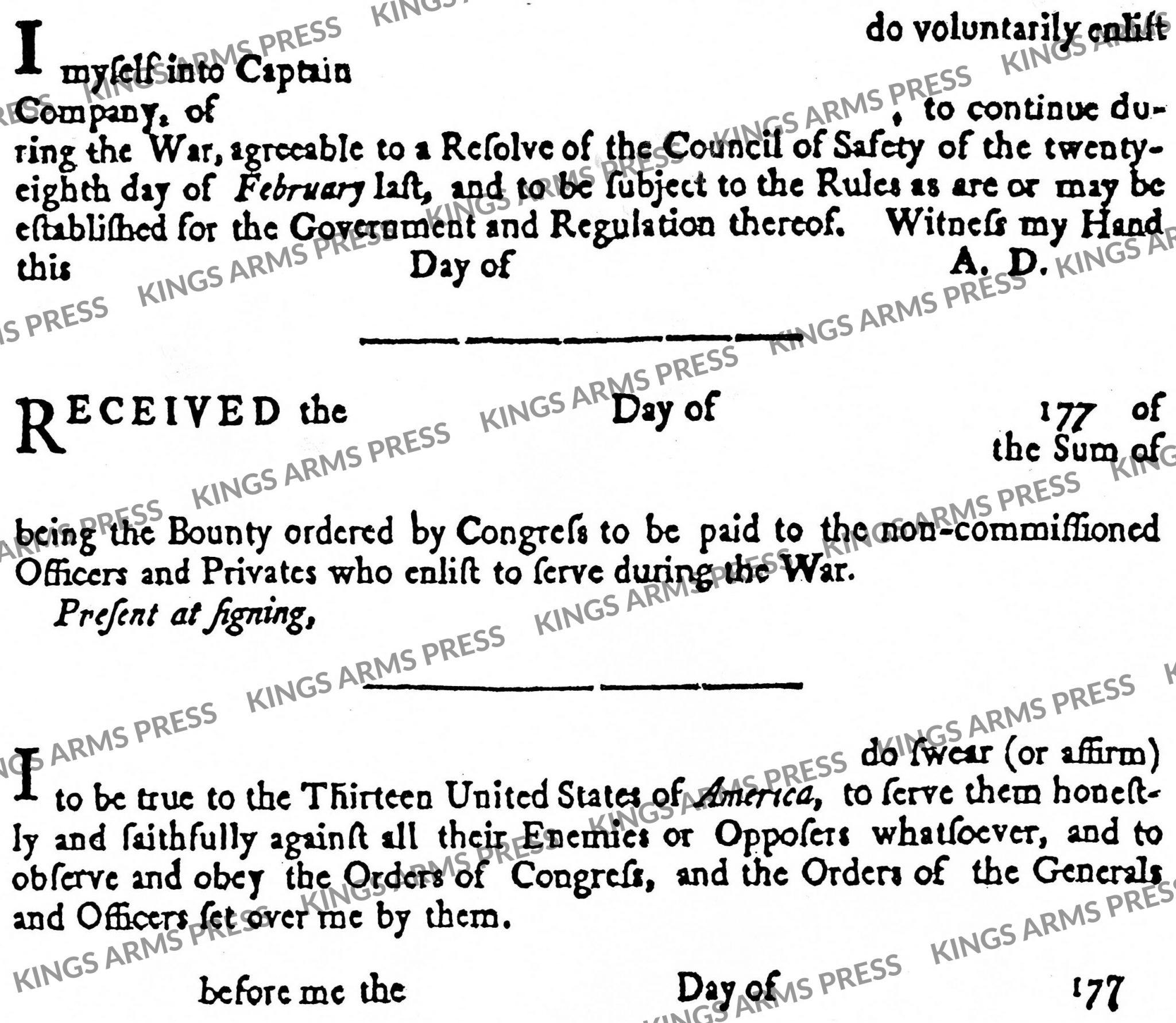 American Enlistment Form