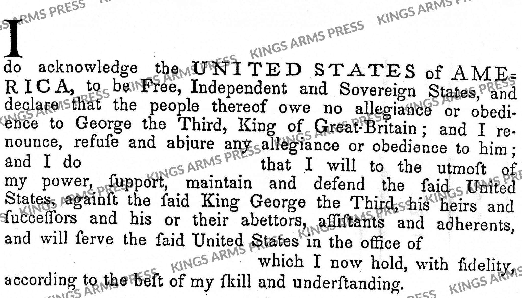 American Loyalty Oath