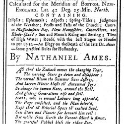 Ames' Almanack for 1765
