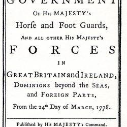 Articles of War, 1778