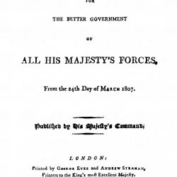 Articles of War, 1807