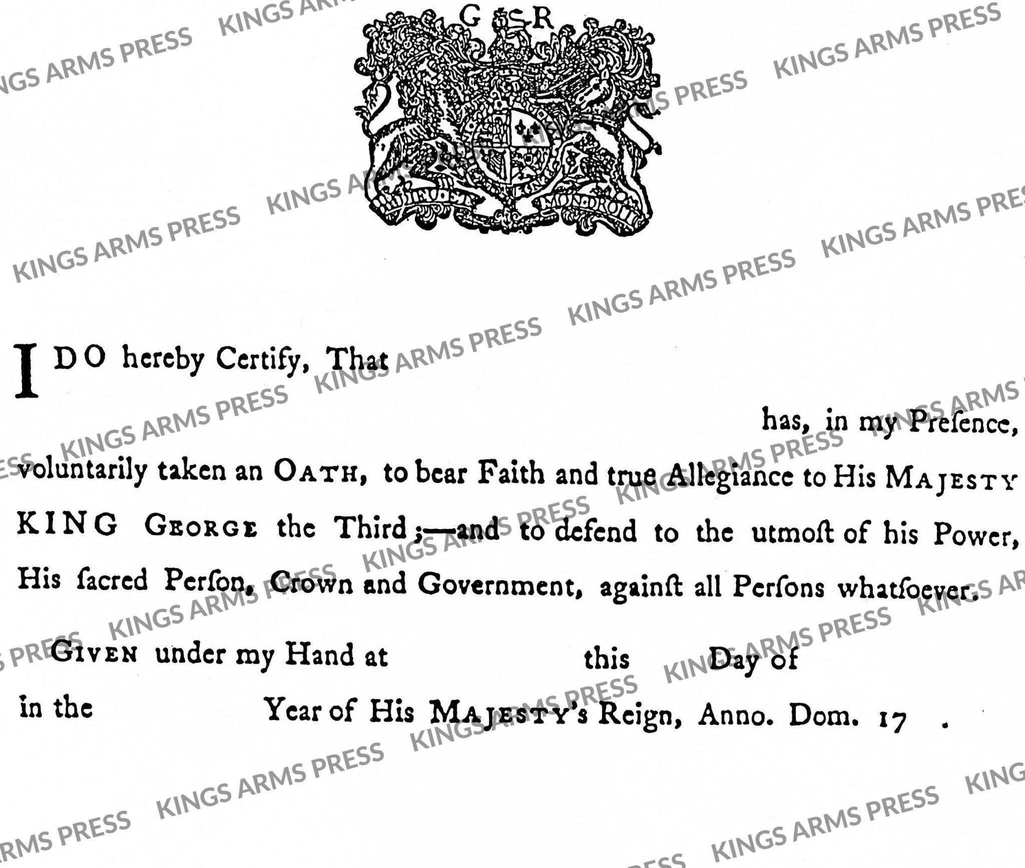 British Loyalty Oath