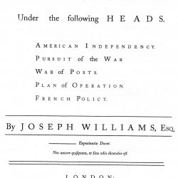 Considerations on the American War, by Joseph Williams, London, 1782