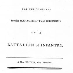 Cuthbertson's System for the Complete Interior Management and Oeconomy of a  Battalion of Infantry, by Bennett Cuthbertson