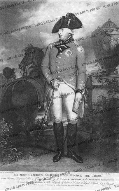 Engraving of George III