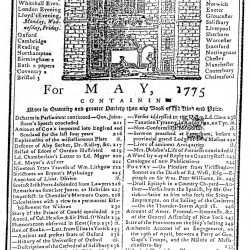Gentleman's Magazine for May, 1775