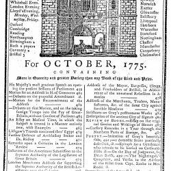 Gentleman's Magazine for October, 1775