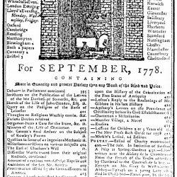 Gentleman's Magazine for September, 1778