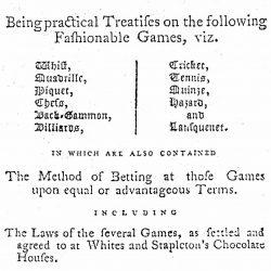 Hoyle's Games Improved, London, 1778