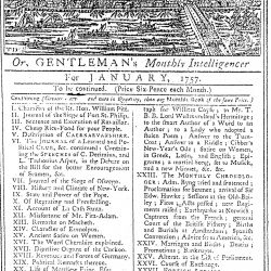 London Magazine for January, 1757