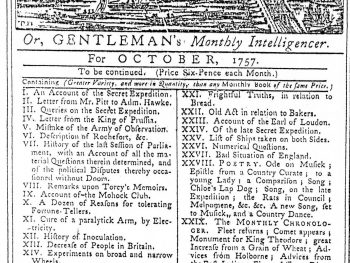London Magazine for October, 1757