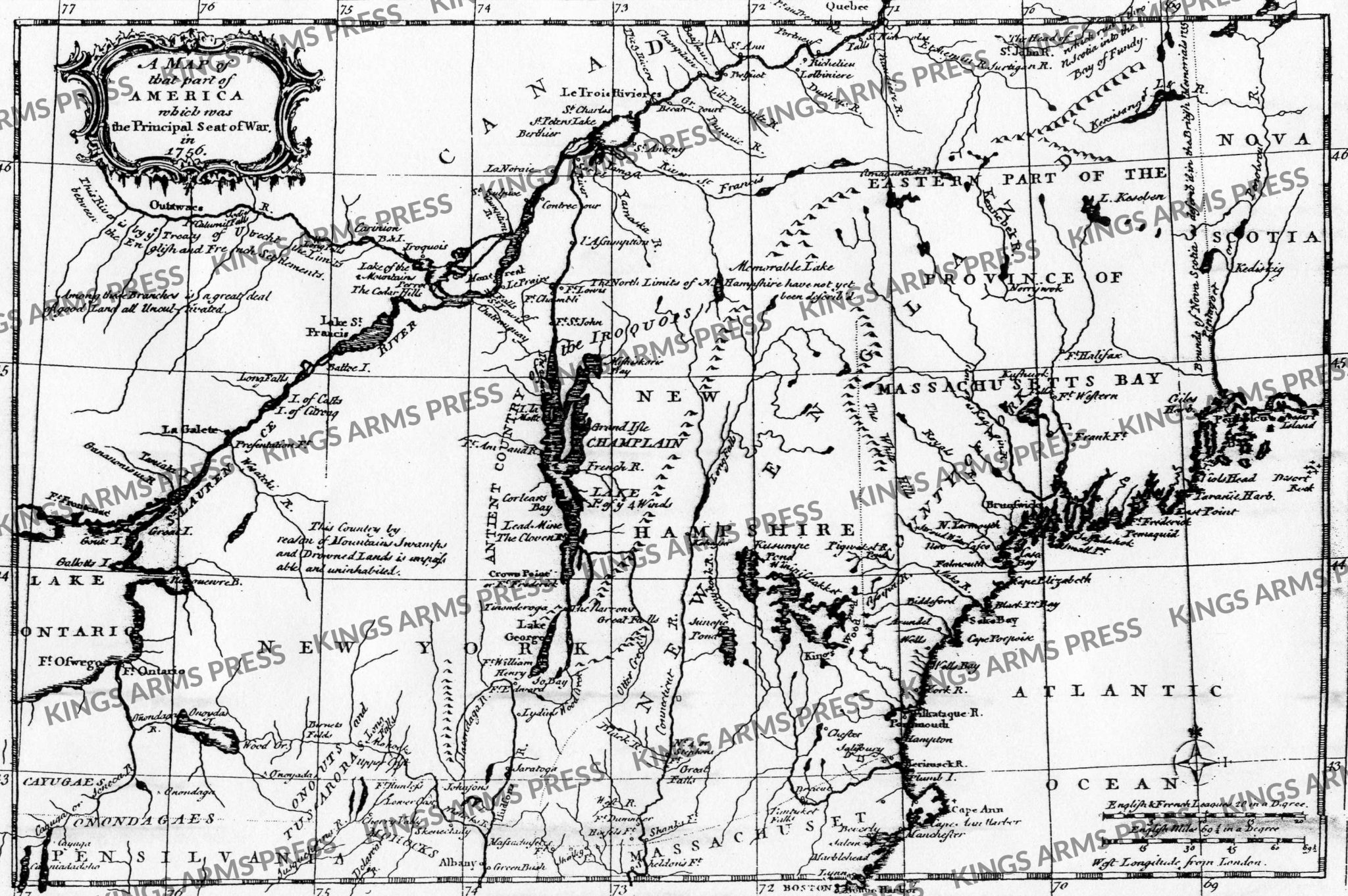 Map of that Part of America Which is the Principal Seat of War in 1756