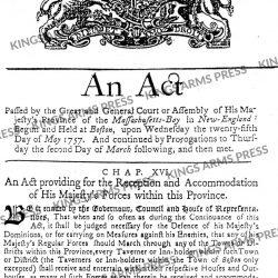 Quartering Act, 1757