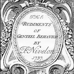 Rudiments of Genteel Behaviour by F. Nivelon, 1737