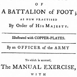 The General Review Manoevers: or, the Whole Evolutions of a Battalion of Foot, &c., London, 1779