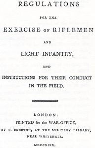 The Light Infantry Exercise of 1797