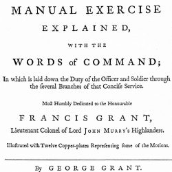 The New Highland Military Discipline, Illustrated with Twelve Copper-Plates, London, 1757