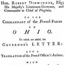 The Journal of Major George Washington, London, 1754