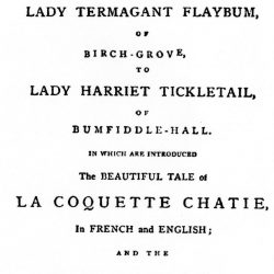 Sublime of Flagellation in Letters to Lady Tickletale 1