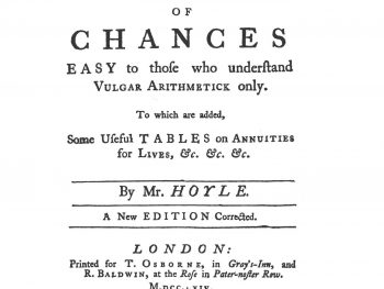 Hoyle's Essay on the Doctrine of Chances
